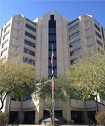 Maricopa County Administration Building and Trees