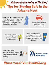 Heat Tips for Visitors Flyer